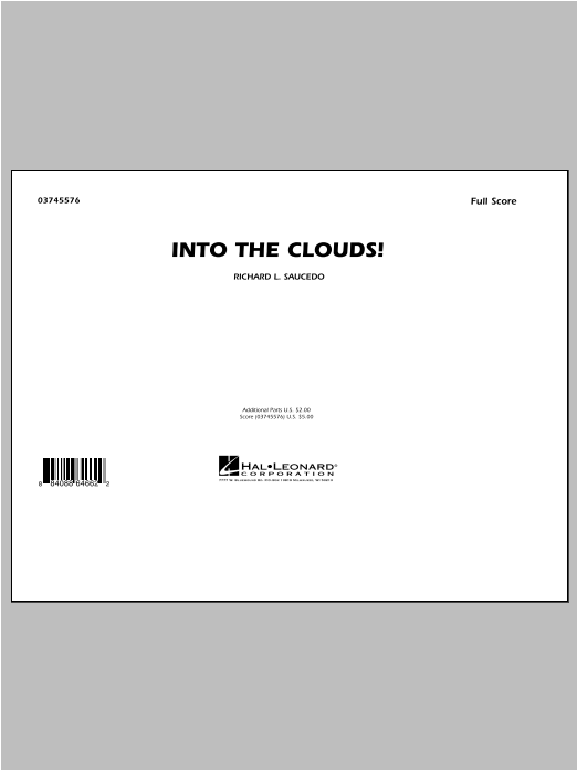 Saucedo Into The Clouds Sheet Music Complete