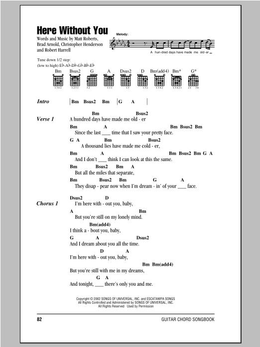 3 Doors Down Here Without You Lyrics Download : doors, without, lyrics, download, Without, Doors, Guitar, Chords/Lyrics, Instructor