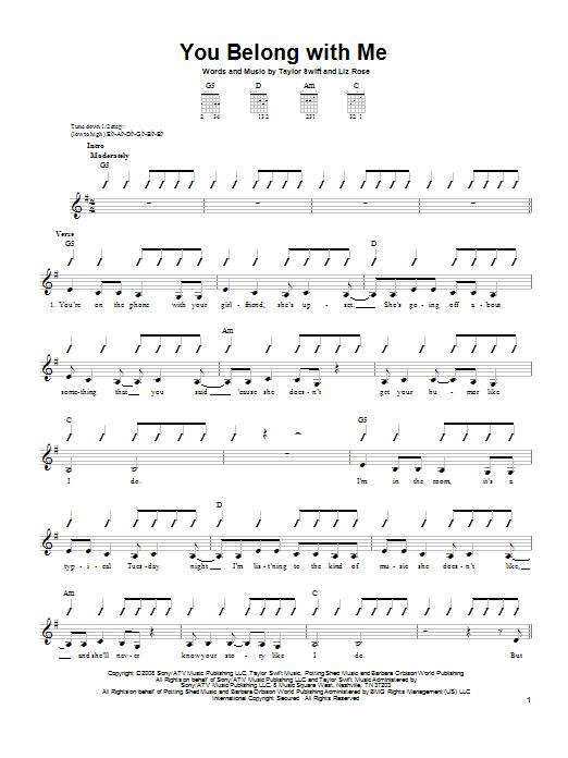 Taylor Swift Ukulele Chords