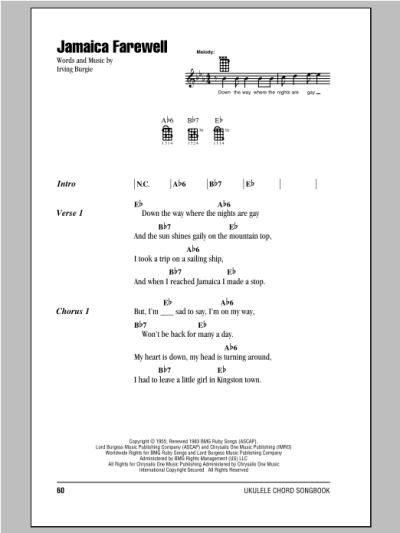 Jamaica Farewell | Sheet Music Direct