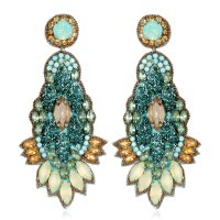 Kenneth Jay Lane Turquoise Carved Earrings | HAUTEheadquarters