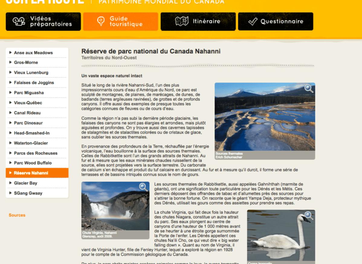 patrimoine mondial au canada