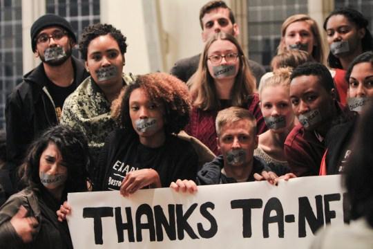 At Coates Talk, Protesters Resurface Narrative Of University's Racial Hypocrisy