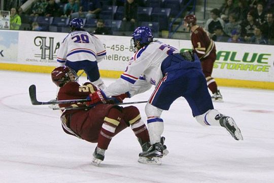 Eagles Fall in Lowell, Will Share Hockey East Regular Season Title With Providence