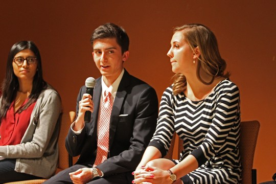 Simons, McCaffrey Win Popular Vote in UGBC Debate