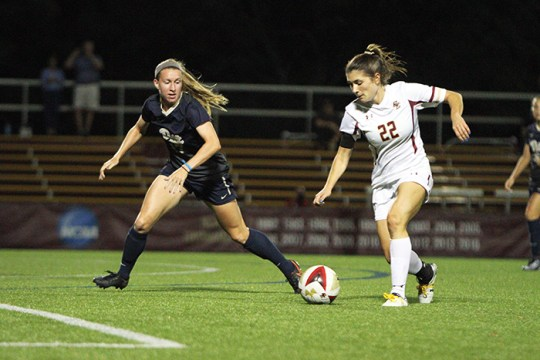 Meehan Becomes Program's All-Time Points Leader in Win Over Pitt