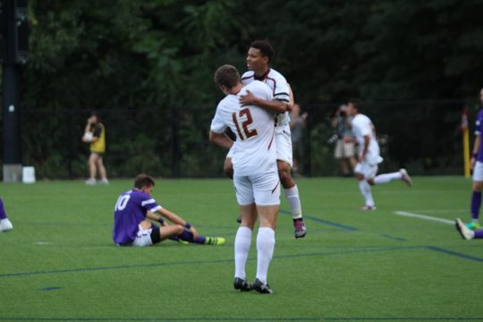 Eagles Overcome Slow Start to Beat Albany in High-Scoring Affair