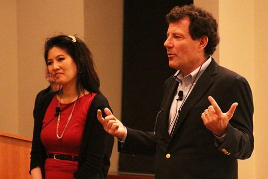 Nicholas Kristof, Sheryl WuDunn Speak of Need for Women Empowerment, Reflect on Progress