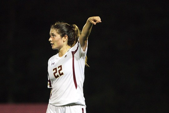 Meehan Carries BC Past Northeastern in Overtime