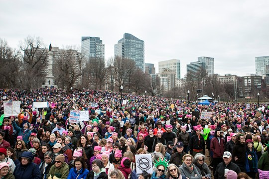 Over 175,000 People Attend Boston Women's March for America