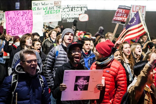 Thousands Fill the Common to Resist Trump