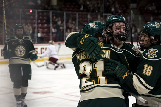 Vermont Scores Two in Third Period, Ties No. 11 BC