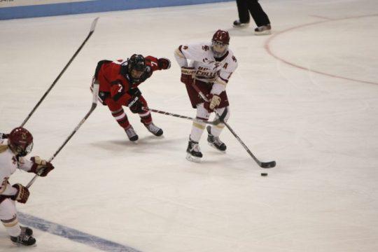 Notebook: Keller-Led Eagles Defense Disrupts Northeastern in Beanpot Final