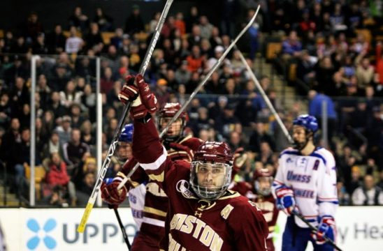Men's Hockey Season Ends With Loss in Hockey East Championship