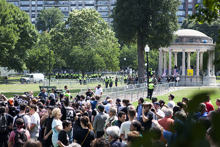 On Saturday, Counter-Protesters Outnumber Protesters at Free Speech Rally
