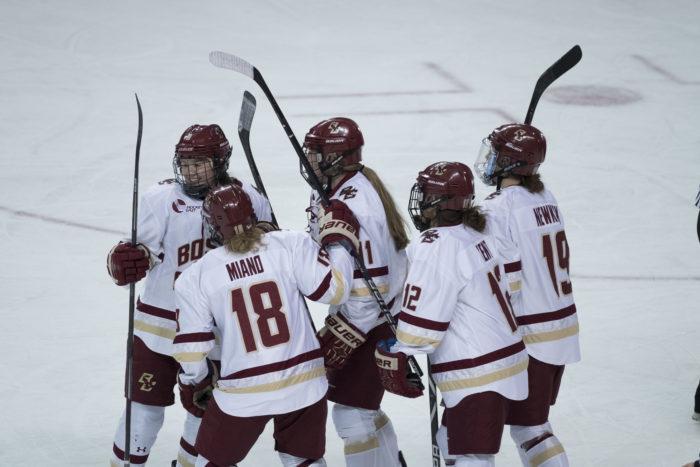 Women's Hockey Explodes for Season-High Eight Goals at Harvard