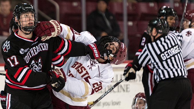 Sloppy Play by Woll, Poor Penalty Kill Plague BC Against Northeastern