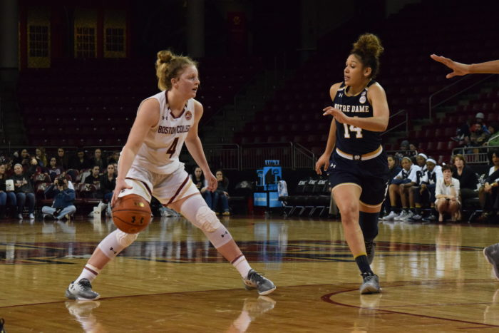 Road Woes Continue for Eagles in Blowout Loss to Notre Dame