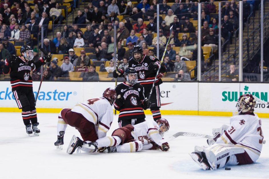 Northeastern Shuts Out Eagles in First Round of Beanpot