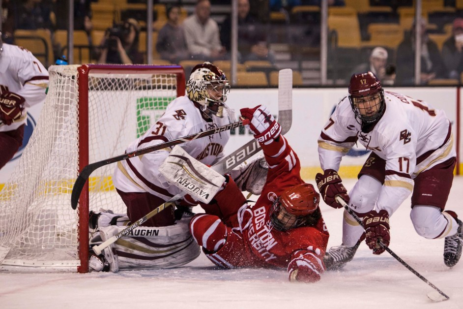 Eagles' NCAA Tournament Chances Plummet With Loss to BU in Hockey East Semis