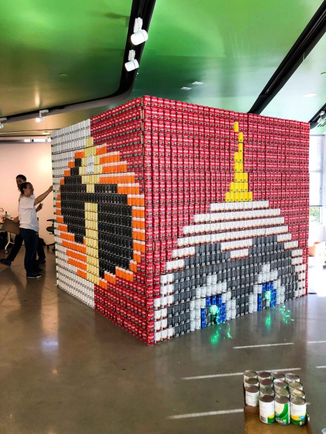 Canstruction Boston Art Pop-Up Raises Awareness Around Food Insecurity
