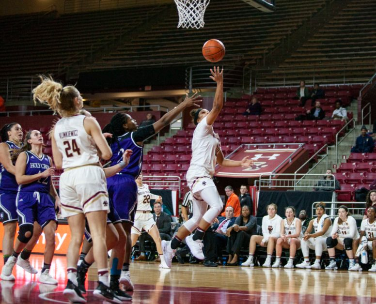 Dickens, Garraud Pace BC to Convincing Win Over Holy Cross