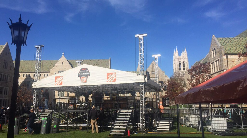 With College GameDay in Town, Campus Embraces Once-in-a-Decade Experience