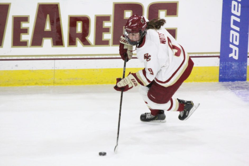 Despite Watts's Two Goals, Eagles Fall to Providence on the Road
