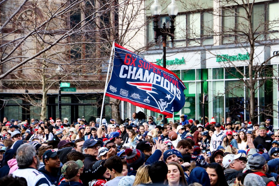 Patriots Fans Celebrate at Super Bowl Parade