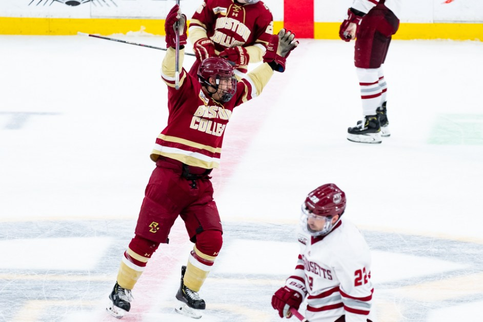 Defensive Effort Leads BC Past No. 3 Massachusetts, into Hockey East Tournament Final