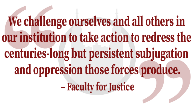 Read The Faculty for Justice's  Open Letter on Anti-Racism Steps BC Should Take