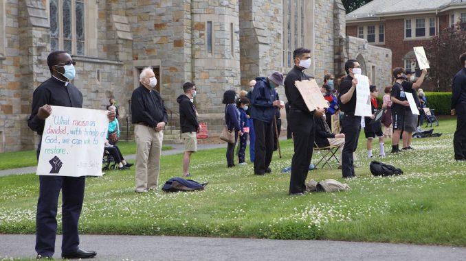 BC Students, Jesuits Hold Black Lives Matter Demonstration