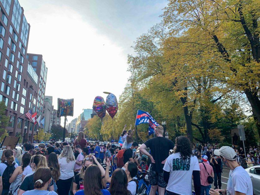 Celebrations Held in Boston Streets Following Biden's Victory