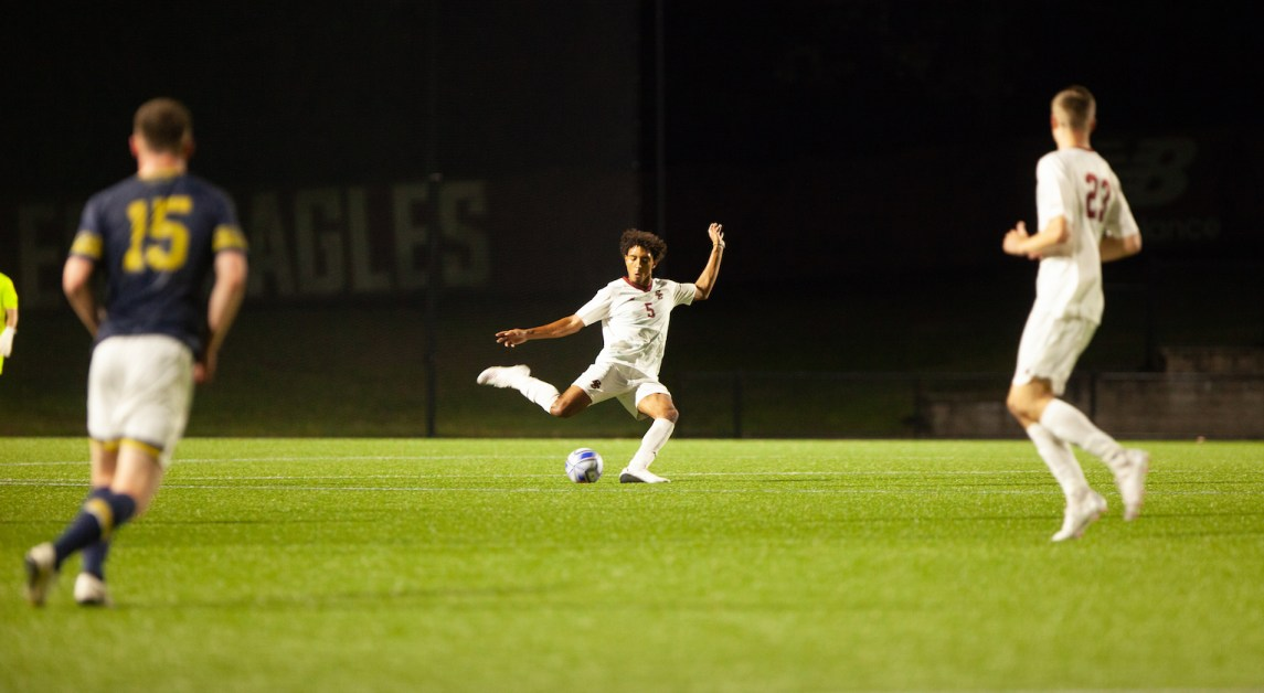 Eagles Caught in Tie With Irish After Scoreless Second Half