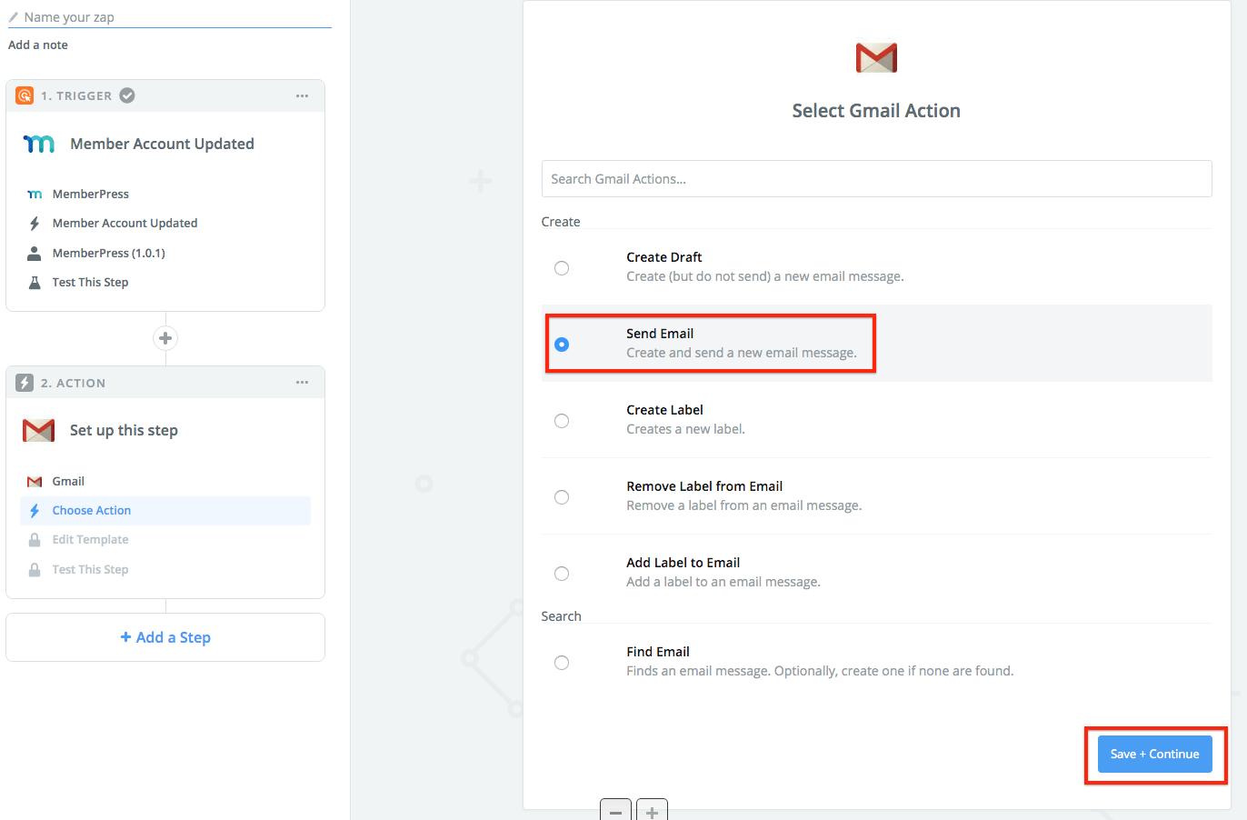 Send Gmail Email When User Updates Profile (Zapier