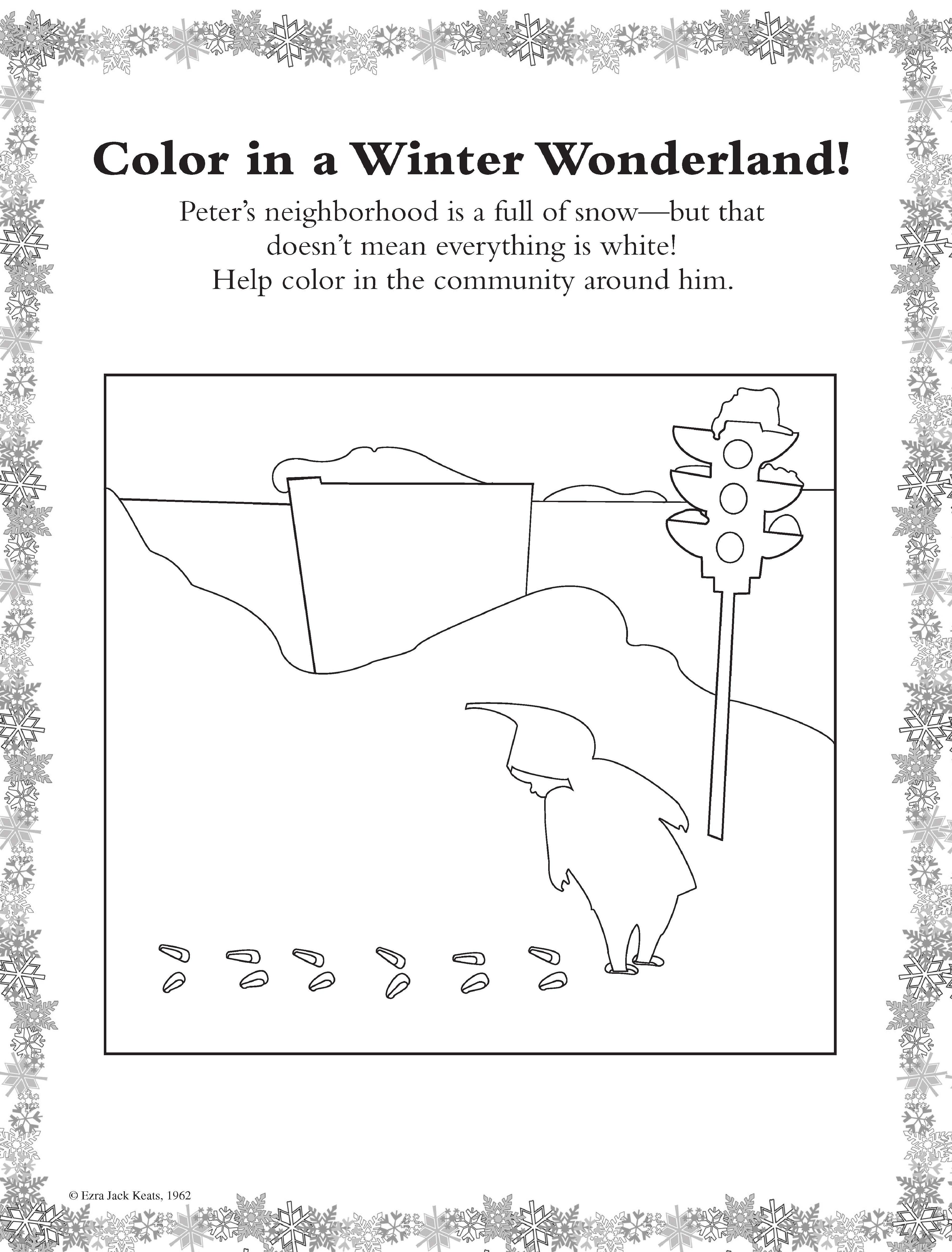 The Snowy Day Character Activity Sheets
