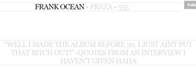 Frank Ocean Album