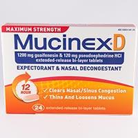 MAXIMUM STRENGTH MUCINEX D Dosage & Rx Info | Uses Side ...