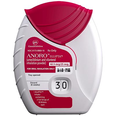 ANORO ELLIPTA (VilanterolUmeclidinium) dosage indication ...