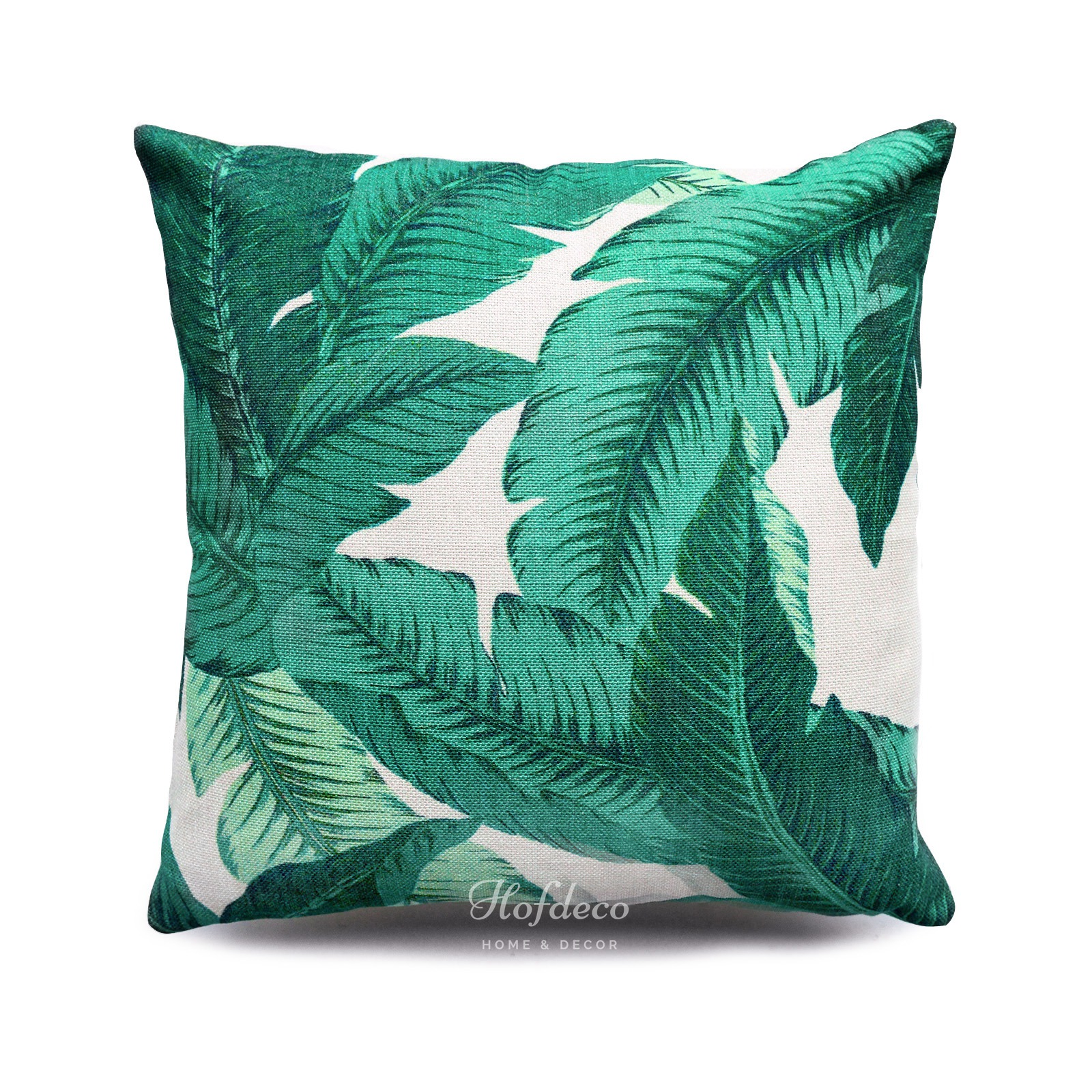 tropical sofa throw cover colorado leather bed pillow banana palm leafs heavy weight