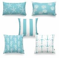 Hofdeco Decorative Throw Lumbar Pillow Cover Aqua ...