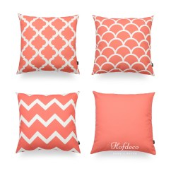 Pink Throw Pillows For Sofa Cushion Inserts Uk Hofdeco Decorative Pillow Cover Geometric Coral