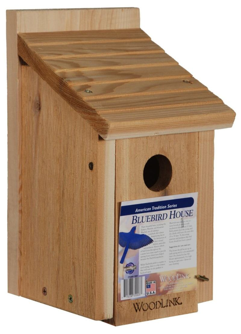 Pleasing Sloped Outdoor Wooden Bird Houses Decorative Bird House