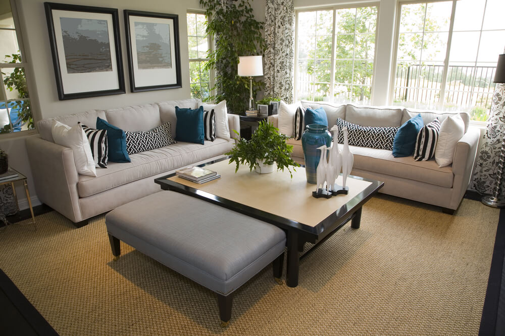 big living room couches modern centerpieces for tables 25 cozy tips and ideas small rooms cottage style with off white sofas decorated blue pillows