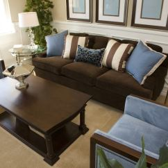 Living Rooms With Dark Brown Furniture Beach Style Room Designs 25 Cozy Tips And Ideas For Small Big Interior Design In Blue One Sofa Two