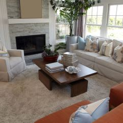 One Sofa Living Room Ideas For Decorating My Walls 25 Cozy Tips And Small Big Rooms Space With Two Reddish Brown Chairs Beige Armchair