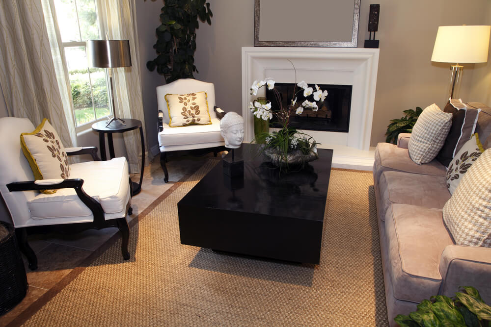 pictures of small living rooms with fireplaces tv units design in room india 25 cozy tips and ideas for big professional white fireplace rectangle dark block style coffee table