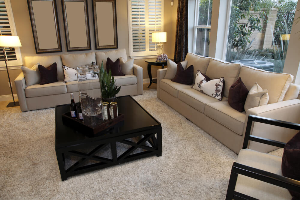living room decorating ideas beige couch tan decor 25 cozy tips and for small big rooms design with one dominant color being offset a dark wood coffee table