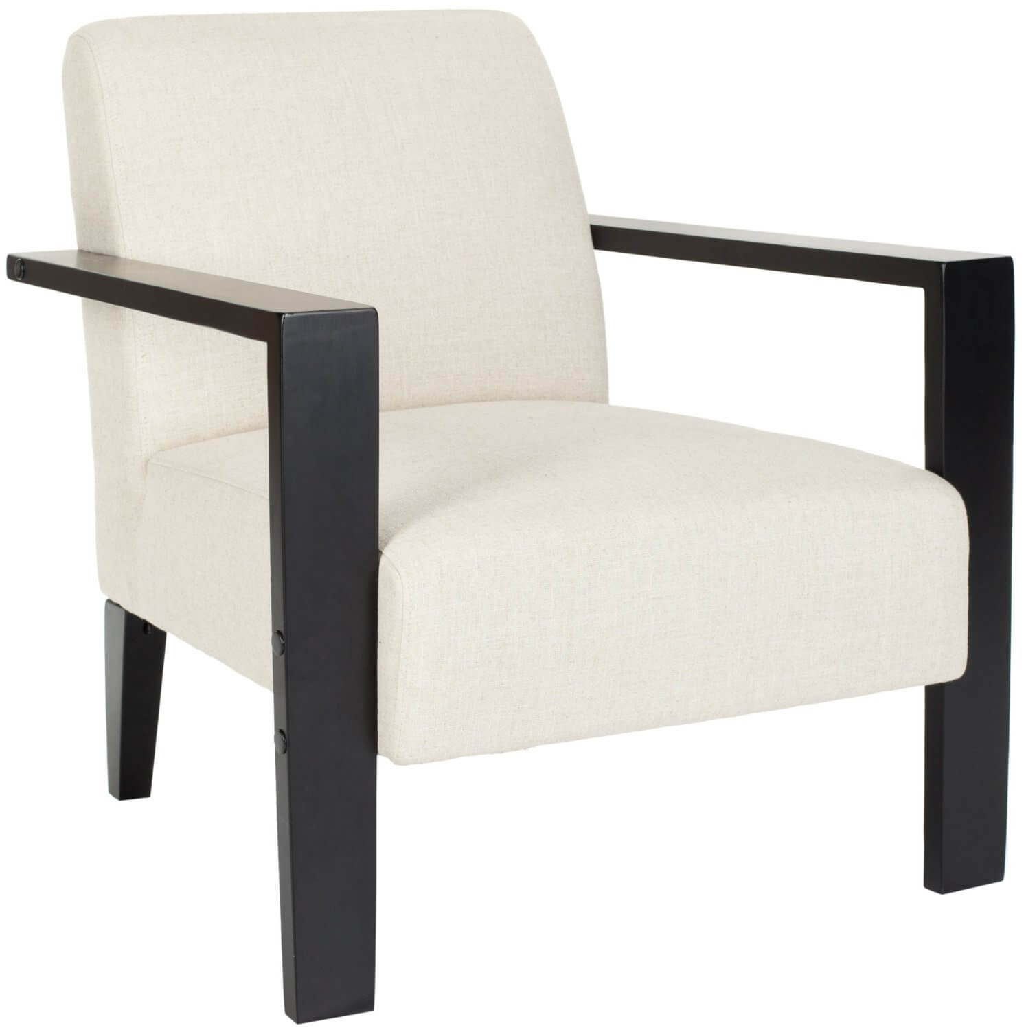 modern leather accent chairs cheap upholstered dining 37 white for the living room off fabric and black finish of this chair by safavieh can set