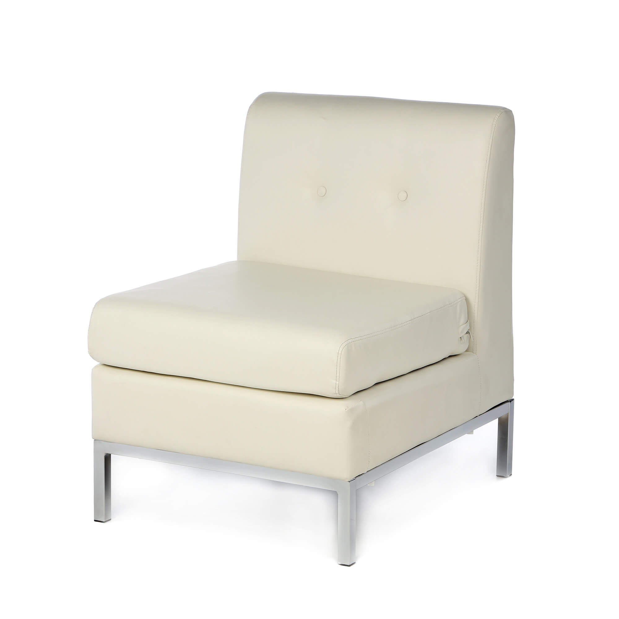 white leather slipper chair tall patio chairs hold 350 lbs 37 modern accent for the living room